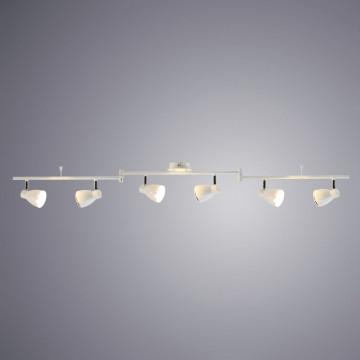 Потолочный светодиодный светильник с регулировкой направления света Arte Lamp Gioved A6008PL-6WH 3000K (теплый), белый, хром, металл