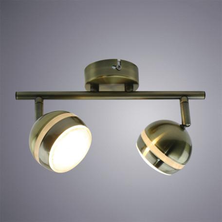 Потолочный светодиодный светильник с регулировкой направления света Arte Lamp Venerd A6009PL-2AB, бронза, металл, пластик - миниатюра 1