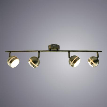 Потолочный светодиодный светильник с регулировкой направления света Arte Lamp Venerd A6009PL-4AB, бронза, металл, пластик