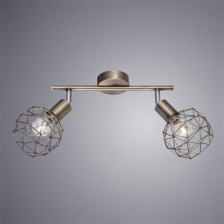 Потолочный светильник с регулировкой направления света Arte Lamp Sospiro A6141AP-2AB, 2xE14x40W, бронза, металл - миниатюра 2