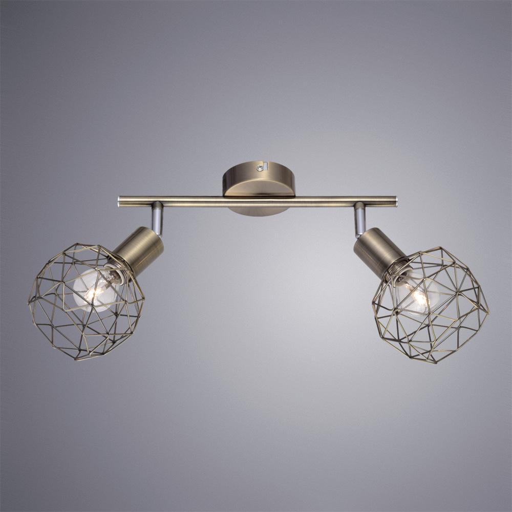 Потолочный светильник с регулировкой направления света Arte Lamp Sospiro A6141AP-2AB, 2xE14x40W, бронза, металл - фото 2