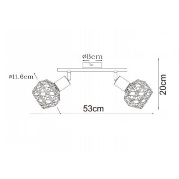Схема с размерами Arte Lamp A6141AP-2AB