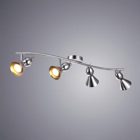 Потолочный светильник с регулировкой направления света Arte Lamp Picchio A9229PL-4CC, 4xGU10x50W, хром, металл