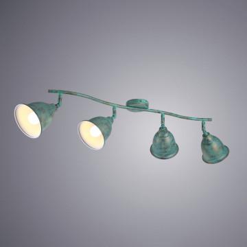 Потолочный светильник с регулировкой направления света Arte Lamp Campana A9557PL-4BG, 4xE14x40W, бирюзовый, металл