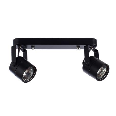 Потолочный светильник с регулировкой направления света Arte Lamp Lente A1310PL-2BK, 2xGU10x50W, черный, металл