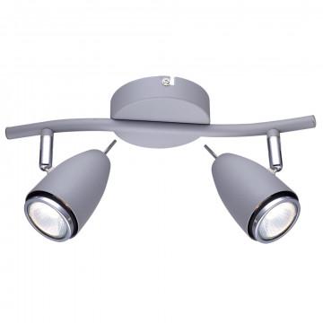 Потолочный светильник с регулировкой направления света Arte Lamp Regista A1966AP-2GY, 2xGU10x50W, серый, металл