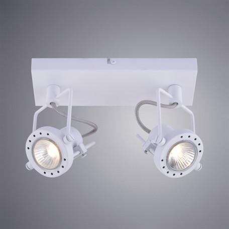 Потолочный светильник с регулировкой направления света Arte Lamp Costruttore A4300AP-2WH, 2xGU10x50W, белый, металл