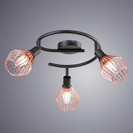Спот Arte Lamp Grato A9163PL-3BK, 3xE14x40W, черный, медь, металл - миниатюра 1