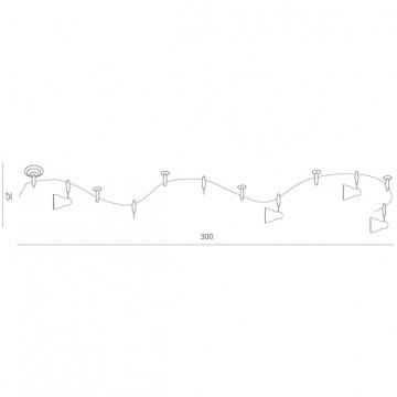 Схема с размерами Arte Lamp Instyle A3058PL-6SI