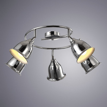 Потолочная люстра с регулировкой направления света Arte Lamp Campana A9557PL-5CC, 5xE14x40W, хром, металл