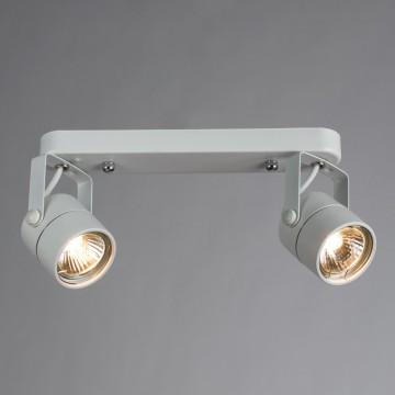Потолочный светильник с регулировкой направления света Arte Lamp Lente A1310PL-2WH, 2xGU10x50W, белый, металл