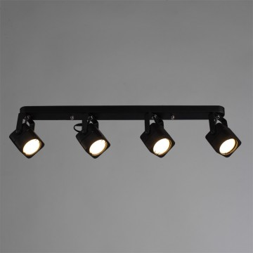 Потолочный светильник с регулировкой направления света Arte Lamp Lente A1314PL-4BK, 4xGU10x50W, черный, металл