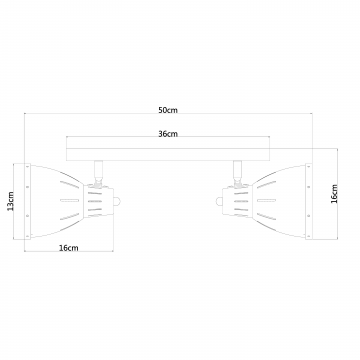 Настенный светильник с регулировкой направления света Arte Lamp Marted A2215AP-2BK, 2xE27x40W, черный, белый, металл - миниатюра 2