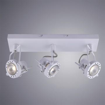 Потолочный светильник с регулировкой направления света Arte Lamp Costruttore A4300PL-3WH, 3xGU10x50W, белый, металл