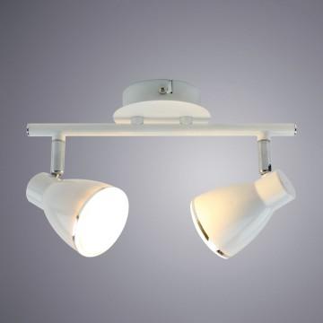 Потолочный светодиодный светильник с регулировкой направления света Arte Lamp Gioved A6008PL-2WH, LED 10W 3000K (теплый), белый, металл - миниатюра 1