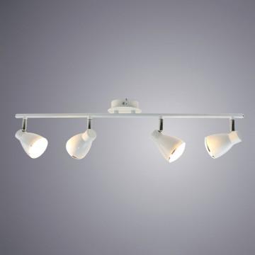 Потолочный светодиодный светильник с регулировкой направления света Arte Lamp Gioved A6008PL-4WH, LED 20W 3000K (теплый), белый, металл