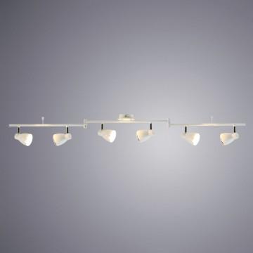 Потолочный светодиодный светильник с регулировкой направления света Arte Lamp Gioved A6008PL-6WH, LED 30W 3000K (теплый), белый, металл