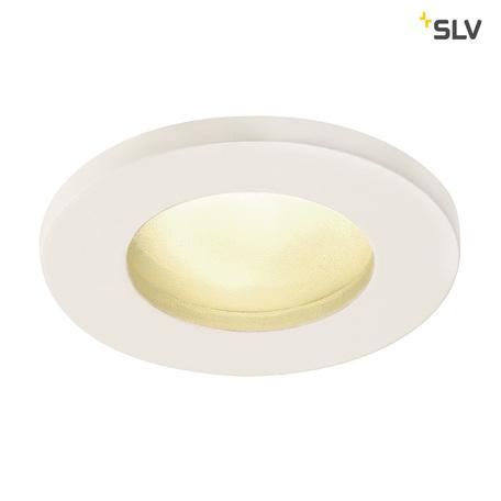 Встраиваемый светильник SLV DOLIX OUT ROUND MR16 1001157, IP65, 1xGU5.3x50W, белый, металл