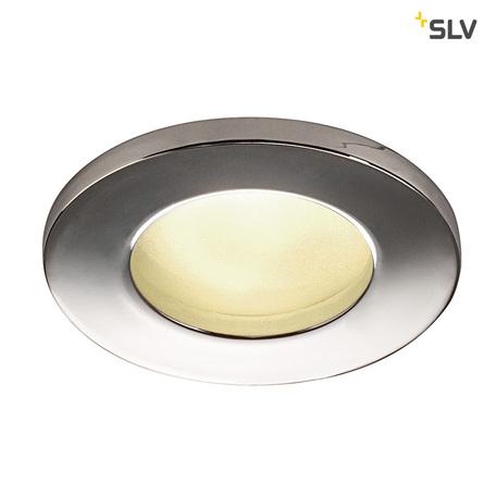Встраиваемый светильник SLV DOLIX OUT ROUND GU10 1001166, IP65, 1xGU10x50W, хром, металл