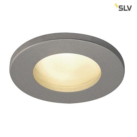 Встраиваемый светильник SLV DOLIX OUT ROUND GU10 1001167, IP65, 1xGU10x50W, серый, металл