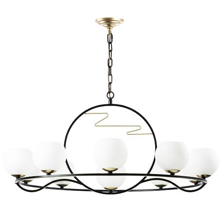Подвесная люстра Lightstar Enna 762117, 11xE14x40W, черный, белый, металл, стекло
