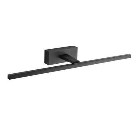 Настенный светодиодный светильник для подсветки зеркал ST Luce Mareto SL446.411.01, IP44, LED 18W 4000K 900lm, черный, металл