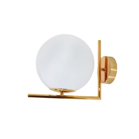 Настенный светильник Lumina Deco Sorento LDW 1215-1 WT+GD, 1xE27x40W, золото, белый, металл, стекло