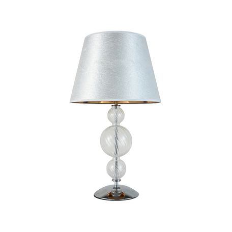 Настольная лампа Lumina Deco Muraneo LDT 1123 SL, 1xE27x40W, хром, прозрачный, серебро, стекло, текстиль