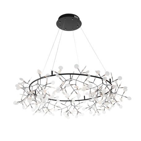 Подвесная светодиодная люстра ST Luce Rafina SL379.403.216, LED 65W 3500K 8424lm, черный, белый, металл, пластик