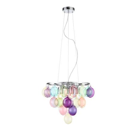 Подвесная люстра ST Luce Sospiro SL432.153.05, 5xE27x60W, хром, разноцветный, металл, стекло