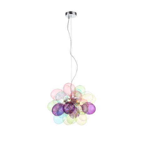 Подвесная люстра ST Luce Sospiro SL432.153.06, 6xG9x3W, хром, разноцветный, металл, стекло
