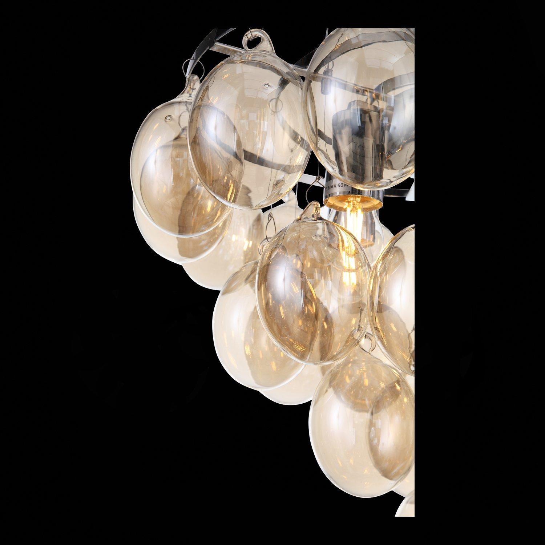 Подвесная люстра ST Luce Sospiro SL432.203.05, 5xE27x60W, хром, коньячный, металл, стекло - фото 10