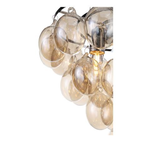Подвесная люстра ST Luce Sospiro SL432.203.05, 5xE27x60W, хром, коньячный, металл, стекло - миниатюра 12