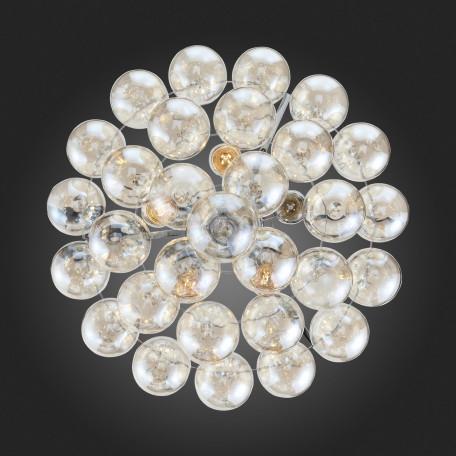 Подвесная люстра ST Luce Sospiro SL432.203.05, 5xE27x60W, хром, коньячный, металл, стекло - миниатюра 14