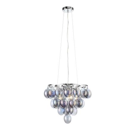 Подвесная люстра ST Luce Sospiro SL432.703.05, 5xE27x60W, хром, дымчатый, металл, стекло