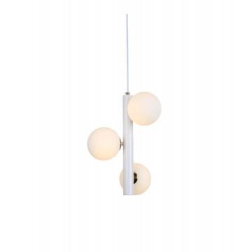 Подвесной светильник Lumina Deco Berica LDP 6031-3 WT+MD, 3xG9x5W, белый, металл, стекло