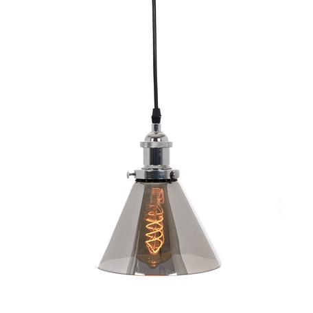 Подвесной светильник Lumina Deco Nubi LDP 6801 CHR+GY, 1xE27x40W, хром, дымчатый, металл, стекло