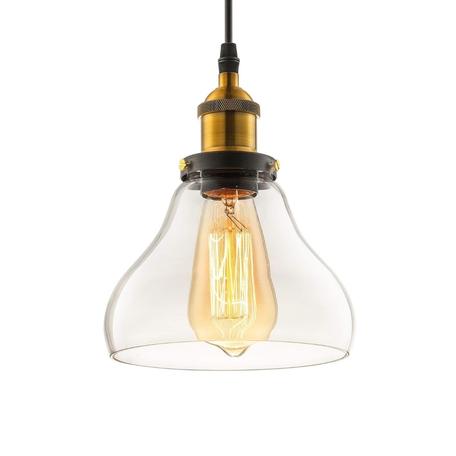 Подвесной светильник Lumina Deco Zubi LDP 6803 PR, 1xE27x40W, черный, бронза, прозрачный, металл, стекло