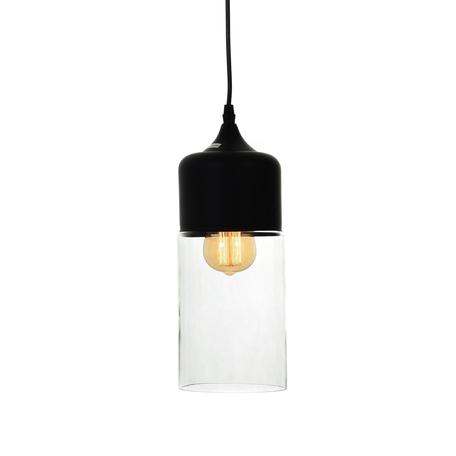 Подвесной светильник Lumina Deco Zenia LDP 6806 BK+PR, 1xE27x40W, черный, прозрачный, металл, металл со стеклом
