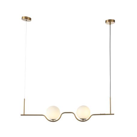 Подвесной светильник ST Luce Forcio SL1126.203.02, 2xG9x5W, матовое золото, белый, металл, стекло