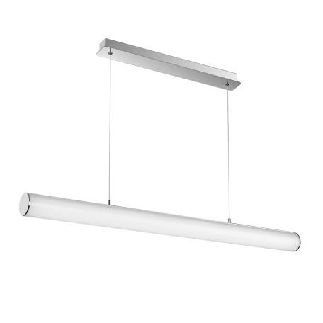 Подвесной светодиодный светильник ST Luce Bacheta SL439.103.01, LED 24W 4000K 2000lm, хром, белый, металл, стекло