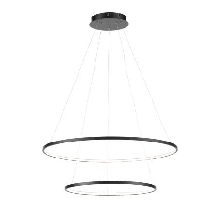 Подвесной светодиодный светильник ST Luce Erto SL904.403.02, LED 28W 4000K 2148lm, черный, металл