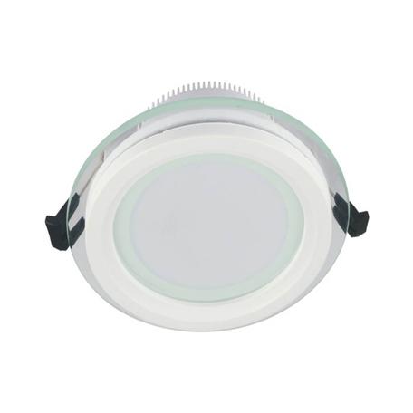 Встраиваемый светодиодный светильник Lumina Deco Saleto LDC 8097-ROUND-GL-18WSMD-D200 WT, LED 18W 4000K, белый, металл со стеклом
