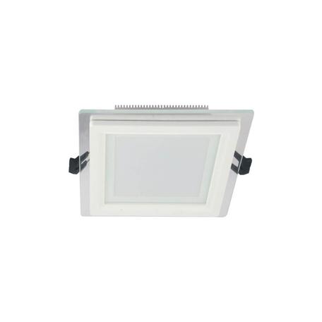 Встраиваемый светодиодный светильник Lumina Deco Beneto LDC 8097-SQ-GL-12WSMD-D160 WT, LED 12W 4000K, белый, металл со стеклом