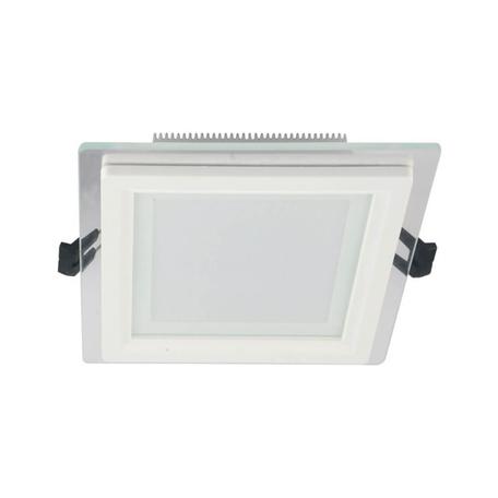 Встраиваемый светодиодный светильник Lumina Deco Beneto LDC 8097-SQ-GL-18WSMD-D200 WT, LED 18W 4000K, белый, металл со стеклом