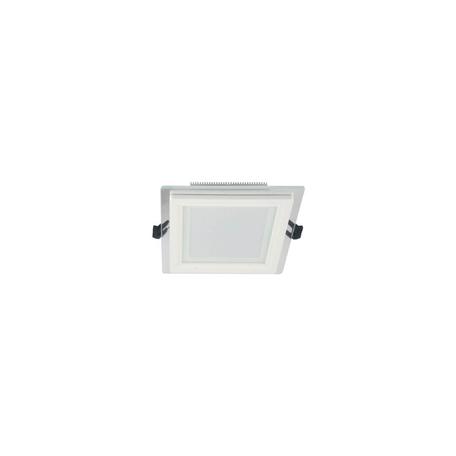 Встраиваемый светодиодный светильник Lumina Deco Beneto LDC 8097-SQ-GL-6WSMD-D100 WT, LED 6W 4000K, белый, металл со стеклом