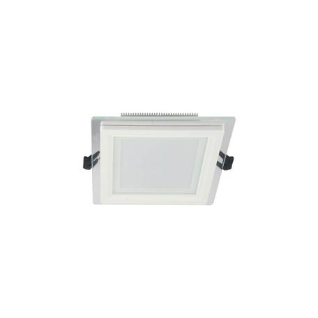 Встраиваемый светодиодный светильник Lumina Deco Beneto LDC 8097-SQ-GL-9WSMD-D120 WT, LED 9W 4000K, белый, металл со стеклом
