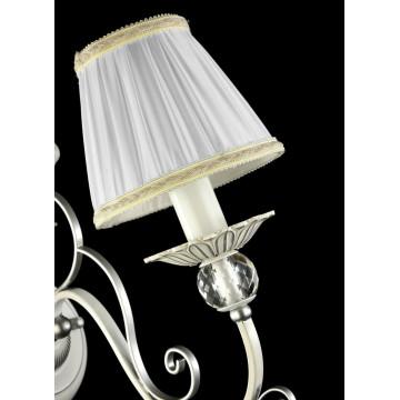 Бра Maytoni Elina ARM222-01-N, 1xE14x40W, белый, серебро, прозрачный, металл, текстиль, хрусталь - миниатюра 4