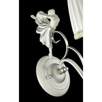 Бра Maytoni Elina ARM222-01-N, 1xE14x40W, белый, серебро, прозрачный, металл, текстиль, хрусталь - миниатюра 5