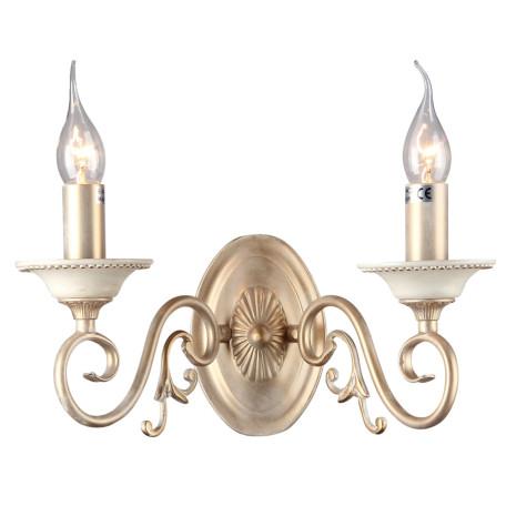 Бра Maytoni Classic Elegant Perla ARM337-02-R, 2xE14x60W, бежевый, матовое золото, металл - миниатюра 2